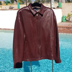 Leather Jkt Polo by Ralph Lauren